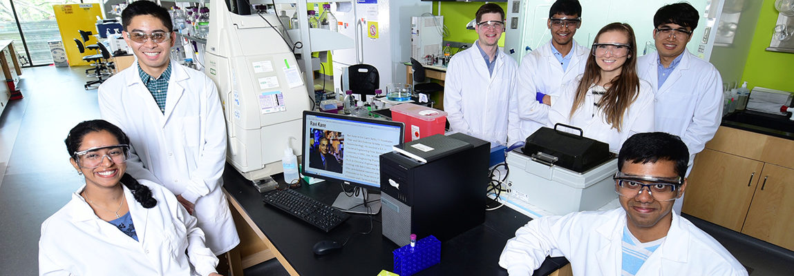 grad students in the lab