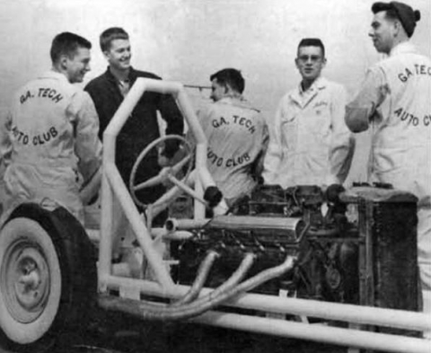 <p>The first rail dragster in Georgia was built by students in the Georgia Tech Auto Club.</p>