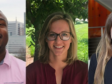 NSF Graduate Research Fellows Isaiah Borne, Taylor Hatridge, and Maggie Manspeaker